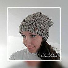 Čiapky - Háčkovaná čiapka homeleska pre ženu SKLADOM - 8653334_
