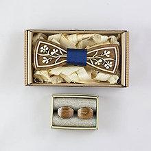 """Doplnky - Dizajnový drevený set motýlika a manžetových gombíkov """"King of nature"""" - 8655753_"""