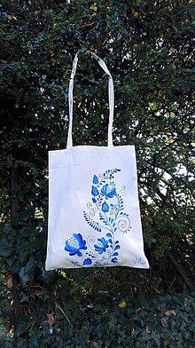 Nákupné tašky - Folklórna  modrá - 8653167_