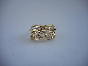 Prstene - Prepletenosť guličková č.2 - 8653426_