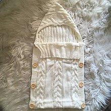 Detské doplnky - Jarný pletený fusak pre bábätko - 8654987_