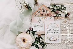 Papiernictvo - Svadobné oznámenia - Meadow birds - 8652123_