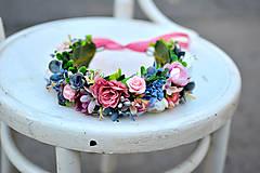 - Romantický rúžový venček - 8654805_