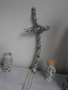 Socha - Kríž shabby chic s kristovou korunou... - 8652564_