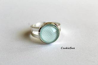 "Prstene - Prsteň ""Dots Mint"" - 8652212_"