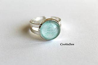 Náušnice - White Lace in Mint