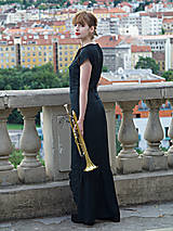 Šaty - Čierne večerné šaty - 8652077_