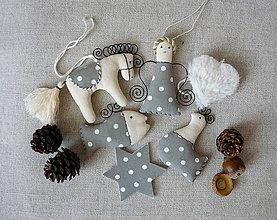 Dekorácie - Sada vianočných ozdôb 6 šedá  s bodkou - 8652758_