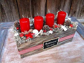 Dekorácie - advent v šuflíku - 8652524_