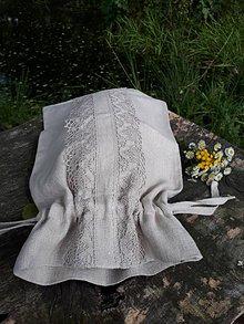 Úžitkový textil - Ľanové vrecko na chlieb Linen Ecstasy - 8655105_