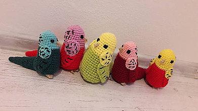 Hračky - andulky - farebnéééé - 8655508_