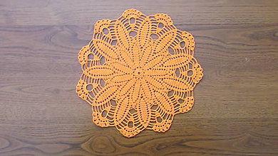 Úžitkový textil - oranžový obrúsok - 8657790_