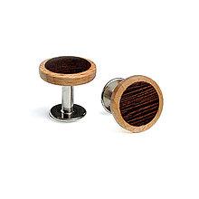Šperky - VÝPREDAJ – Drevené manžetové gombíky Modo - 8659802_
