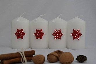Svietidlá a sviečky - adventné sviečky hviezdy - 8656760_