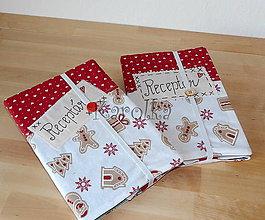 Papiernictvo - Receptár / zápisník - Vianočné dobroty - 8655910_