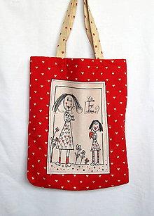 Nákupné tašky - Nákupná taška - Ako moja mama ♥♥ - 8656576_