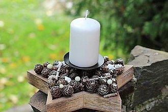 Dekorácie - Vianočný svietnik - 8657060_