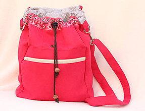 Batohy - 2 v 1 ruksak ružový XL - 8656828_