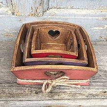 """Nádoby - drevené misky """"Srdečné"""" - 8656808_"""