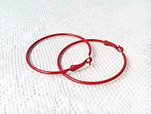 Komponenty - Červené náušnice - kruhy - 8657839_
