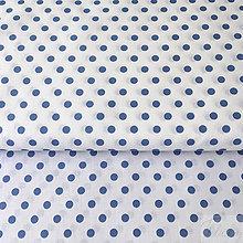 Textil - tmavotyrkysové bodky; 100 % bavlna, šírka 140 cm, cena za 0,5 m - 8656450_