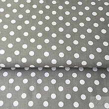 Textil - sivé bodky; 100 % bavlna, šírka 140 cm, cena za 0,5 m - 8656476_