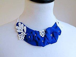 Náhrdelníky - modrý náhrdelník - 8658072_