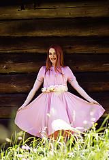 Šaty - Ružové bambusové šaty - 8656256_
