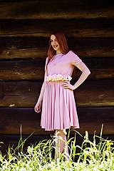 Šaty - Ružové bambusové šaty - 8656257_
