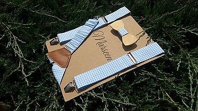 Detské doplnky - Detský set - drevený motýlik a traky - 8659092_