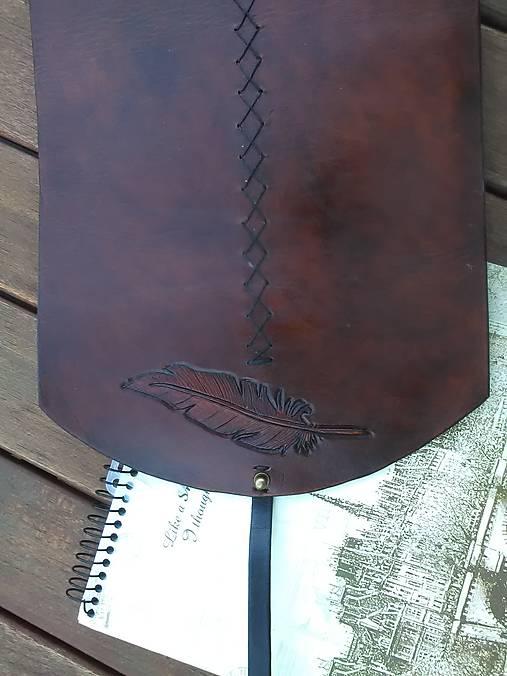 Kožený obal na kresliace a písacie potreby