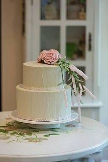 Krabičky - dekoračný box / svadobná torta Rose - 8659454_