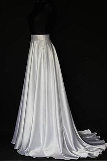 Sukne - Kvalitná saténová kruhová sukňa s vlečkou rôzne farby - 8657511  4af37e3d8ee
