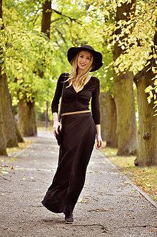 Šaty - Šaty Anett Bohyňa - čierně - 8656642_