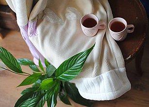 Úžitkový textil - Ružovo béžová dievčenská deka so srdiečkami - 8657681_