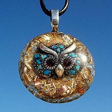 Náhrdelníky - ORGONIT *Symbol moudrosti, Sova*, 2 - 8660253_