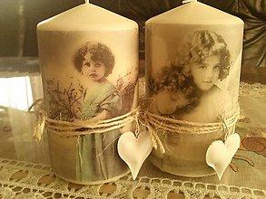 Svietidlá a sviečky - Sviečka anjelská. - 8663363_