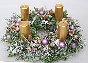 Dekorácie - advent lila - 8662883_