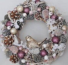 Dekorácie - zimný lila vtáčik pre svetlanku - 8662955_