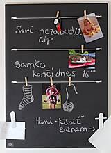 Tabuľky - Variabilná tabuľová nástenka - alebo adventný kalendár  v škandinávskom štýle 2v1 - 8661176_