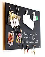Tabuľky - Variabilná tabuľová nástenka - alebo adventný kalendár  v škandinávskom štýle 2v1 - 8661177_