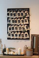 Tabuľky - Variabilná tabuľová nástenka - alebo adventný kalendár  v škandinávskom štýle 2v1 - 8661180_