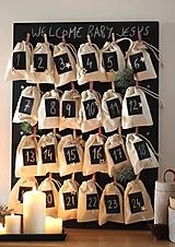 Tabuľky - Variabilná tabuľová nástenka - alebo adventný kalendár  v škandinávskom štýle 2v1 - 8661182_