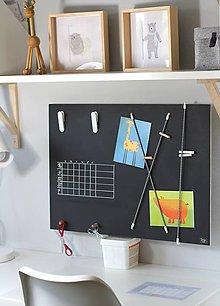 Tabuľky - Tabuľová nástenka - alebo adventný kalendár  v škandinávskom štýle 2v1 - 8661175_