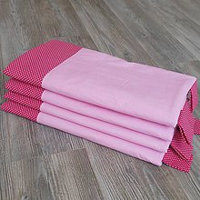Úžitkový textil - Zástena bez vreciek *Ružová* - 8660011_