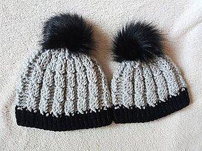 Detské čiapky - Set 2 čapíc :) - 8661395_