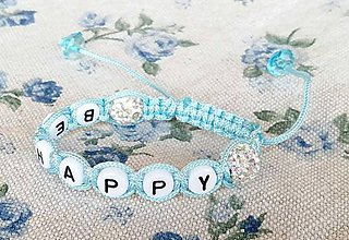 Náramky - pletený náramok s menom shamballa - 8660336_