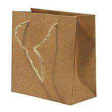 Papier - Papierová taška s rukoväťou z juty – sada 12 ks. - 8662364_