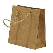 Papier - Papierová taška s rukoväťou z juty – sada 12 ks. - 8662398_