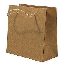 Papier - Papierová taška s rukoväťou z juty – sada 12 ks. - 8662411_